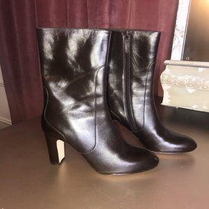 EUC!!! Cole Haan Mid Calf Heeled Leather Bootie